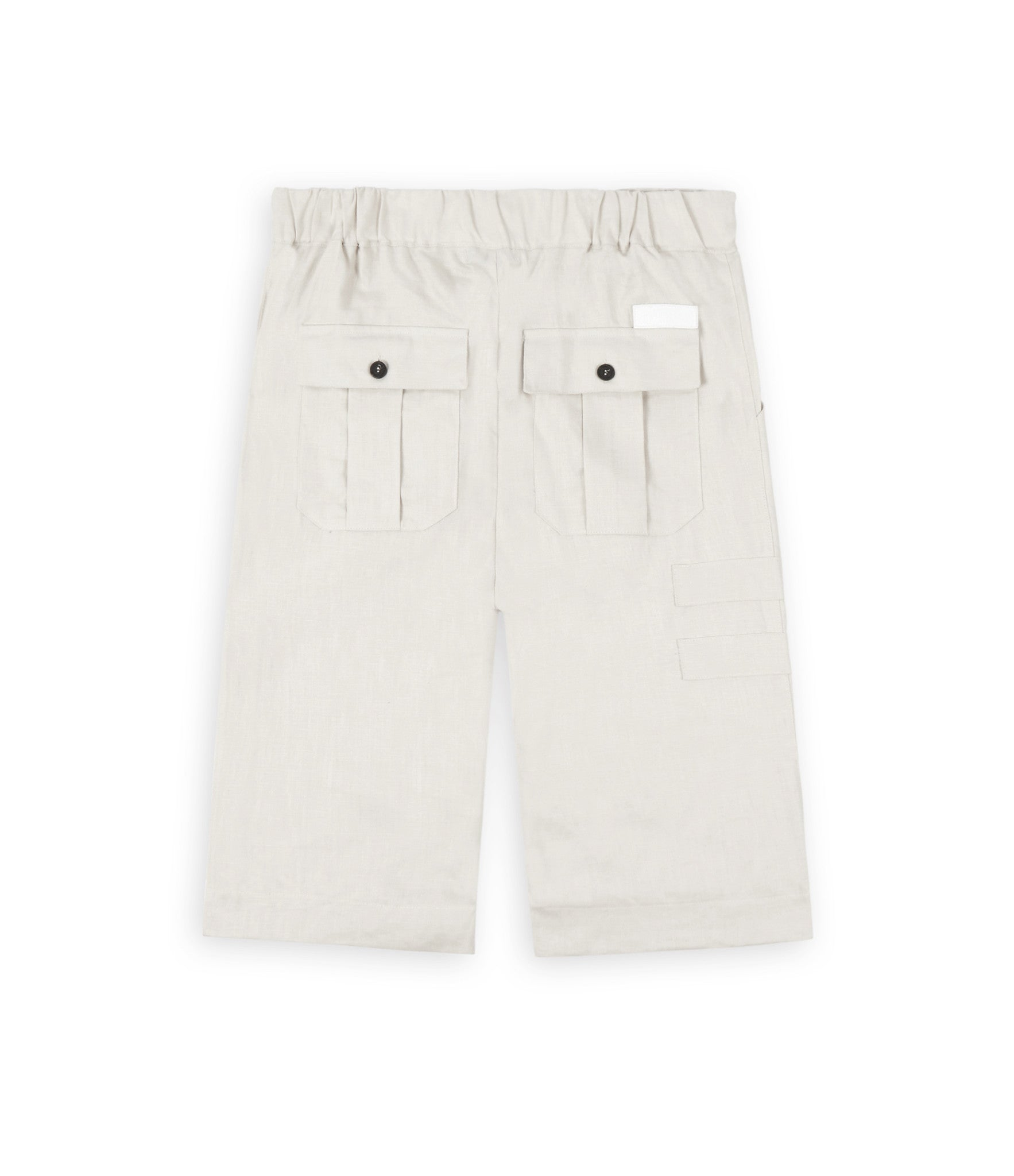 SR282 Exile Linen Shorts - Oyster - underated london - underatedco - 3
