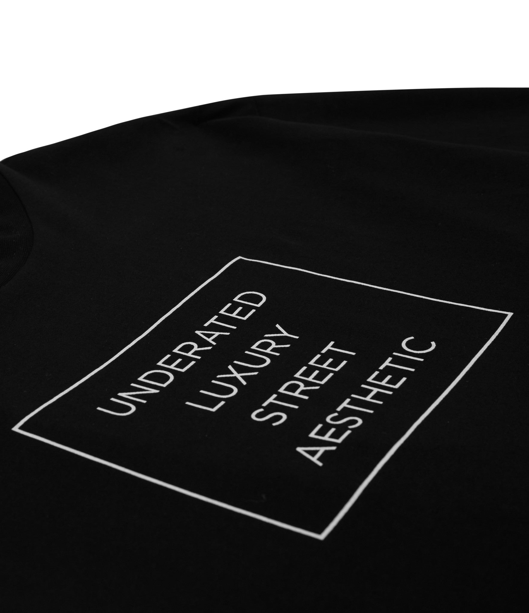 TS319 Box Logo Printed Tee - Black - underated london - underatedco - 2