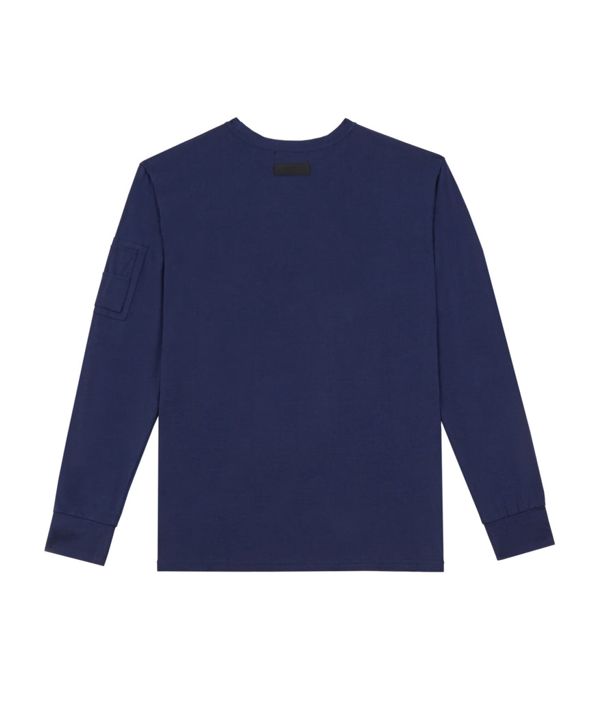 LS303 Utility Long-Sleeve Tee - French Navy - UNDERATED