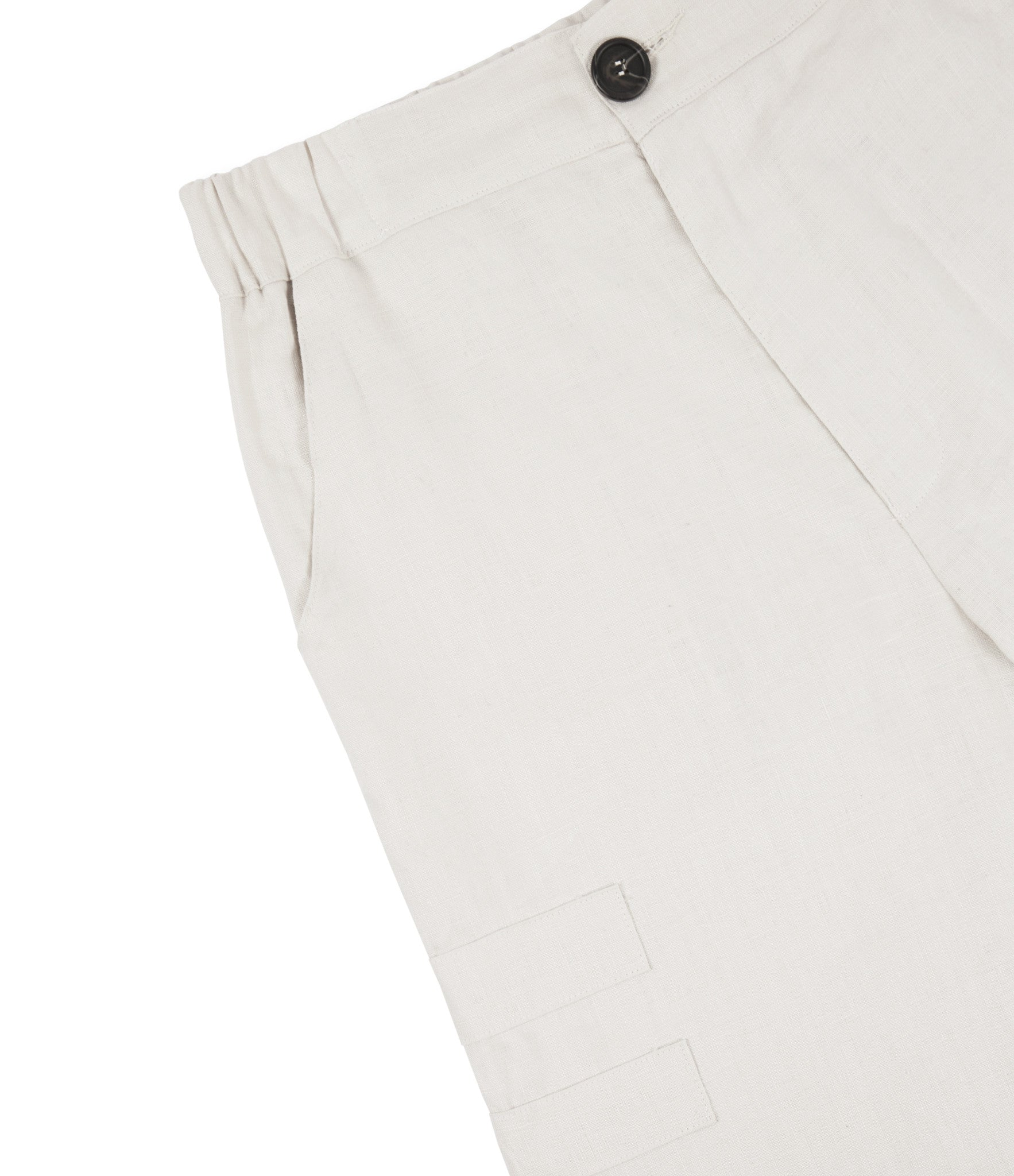 SR282 Exile Linen Shorts - Oyster - underated london - underatedco - 4