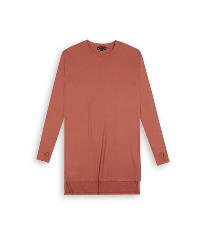 D16 Elongated Under Layer Tee - Rust - underated london - underatedco