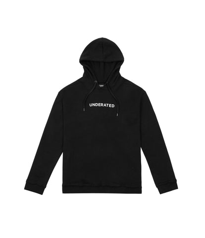 HD334 Printed Hoody - Black - underated london - underatedco - 1
