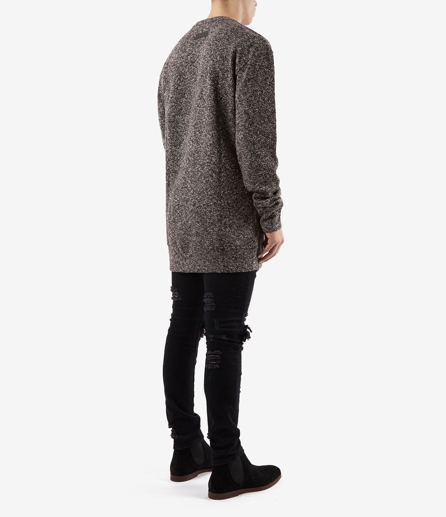 SW375 Elongated Knit Jumper - Black - underated london - underatedco - 4