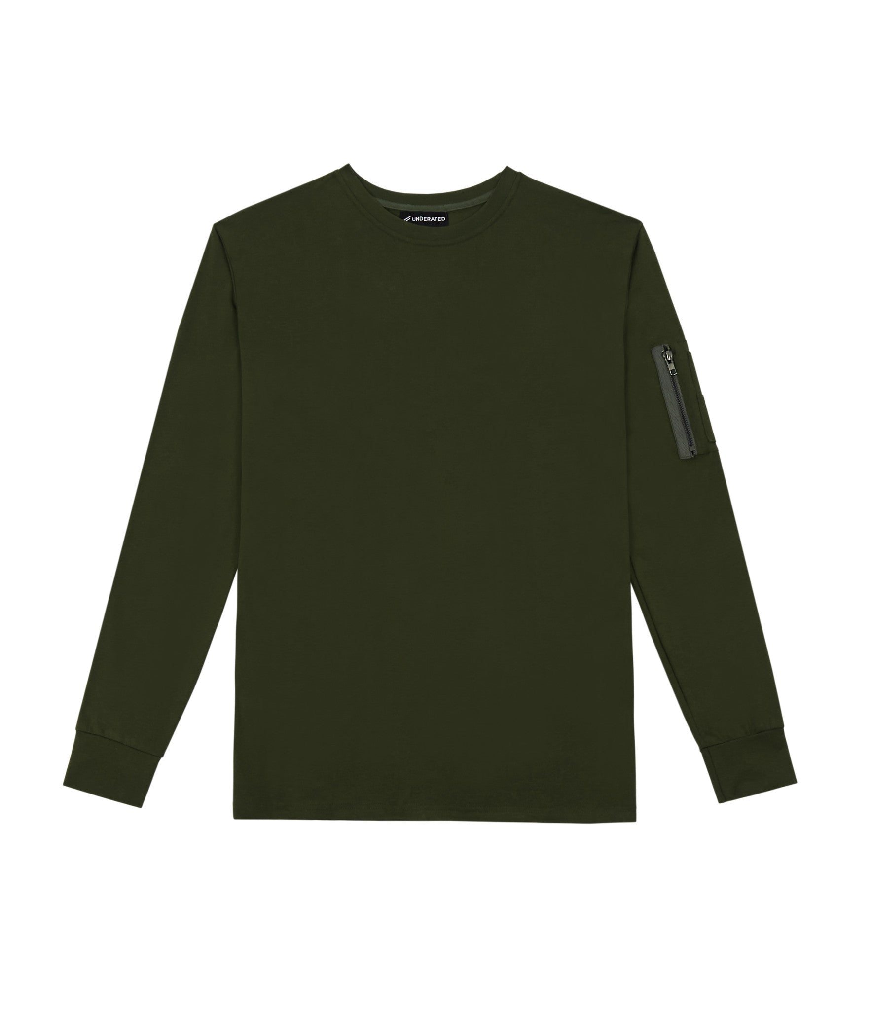 LS303 Utility Long-Sleeve Tee - Olive Green - underated london - underatedco - 1