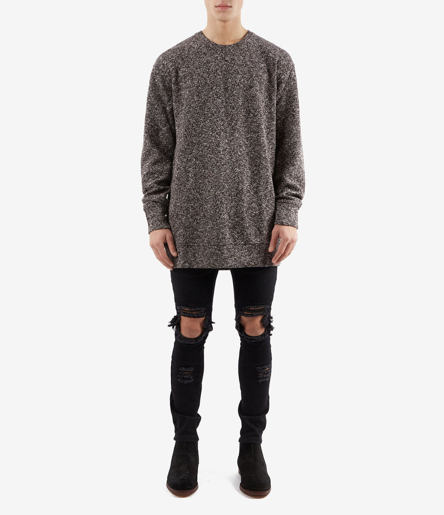 SW375 Elongated Knit Jumper - Black - underated london - underatedco - 2