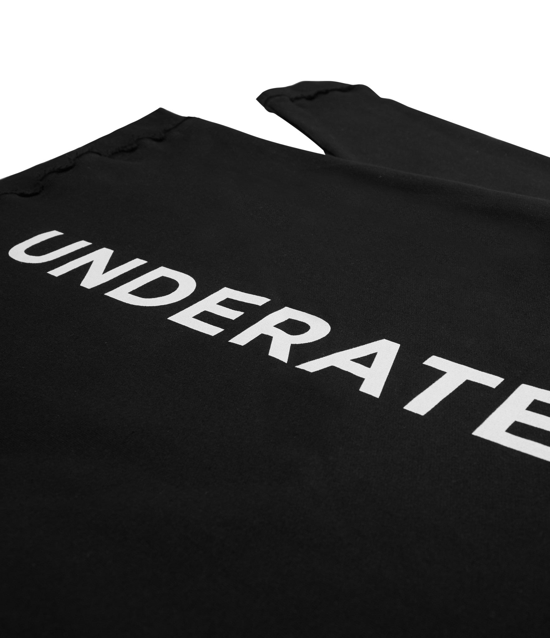HD334 Printed Hoody - Black - underated london - underatedco - 3