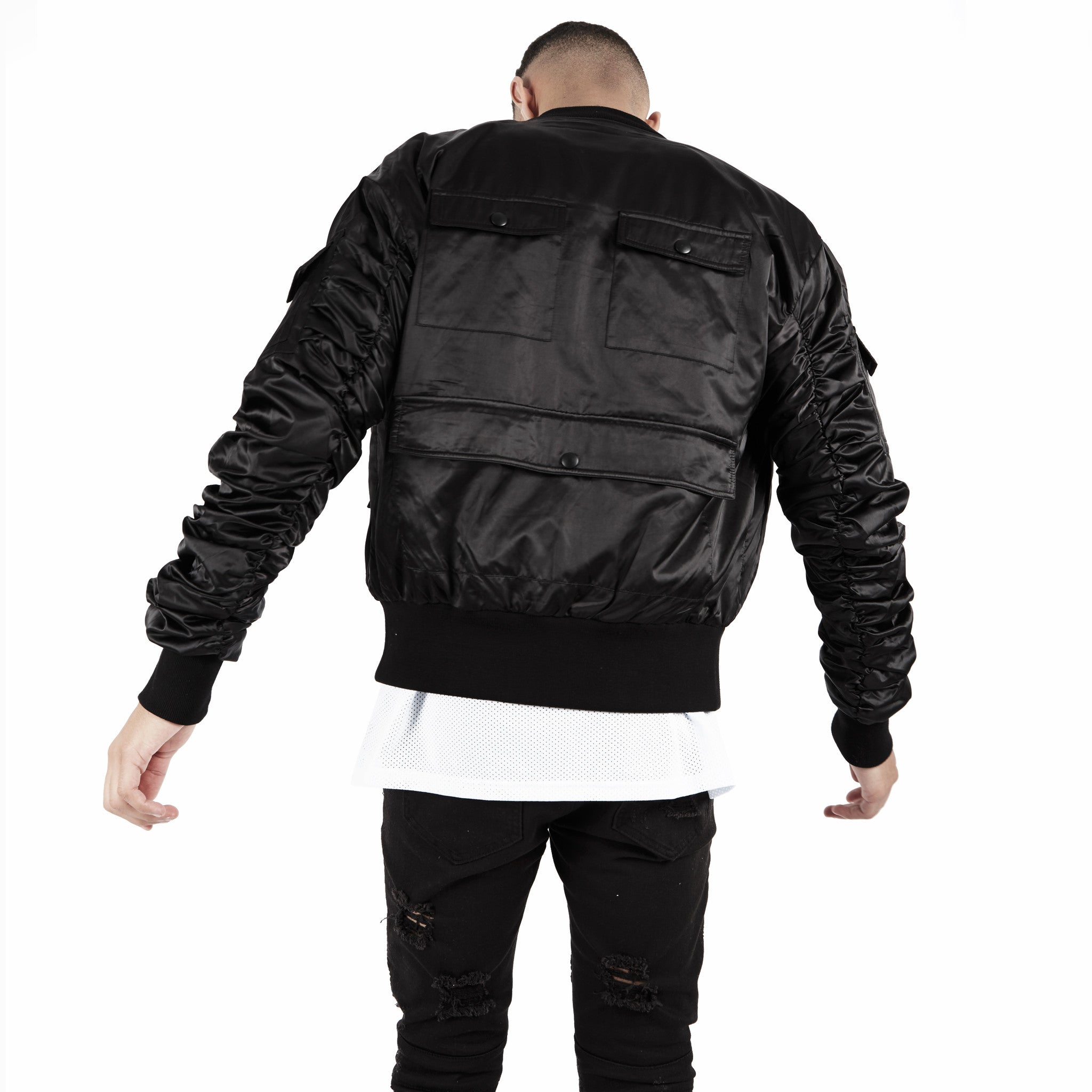 JK263 Exile Tactical Bomber Jacket - Black - underated london - underatedco - 6