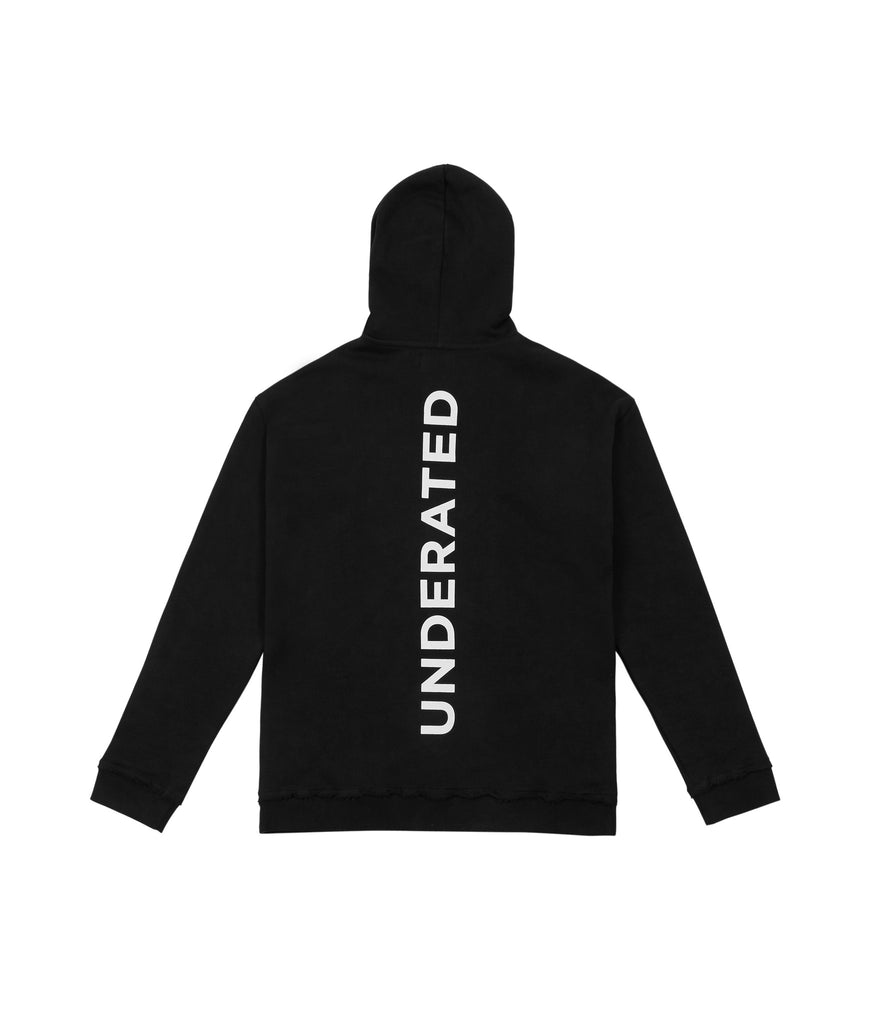 HD334 Printed Hoody - Black - underated london - underatedco - 5