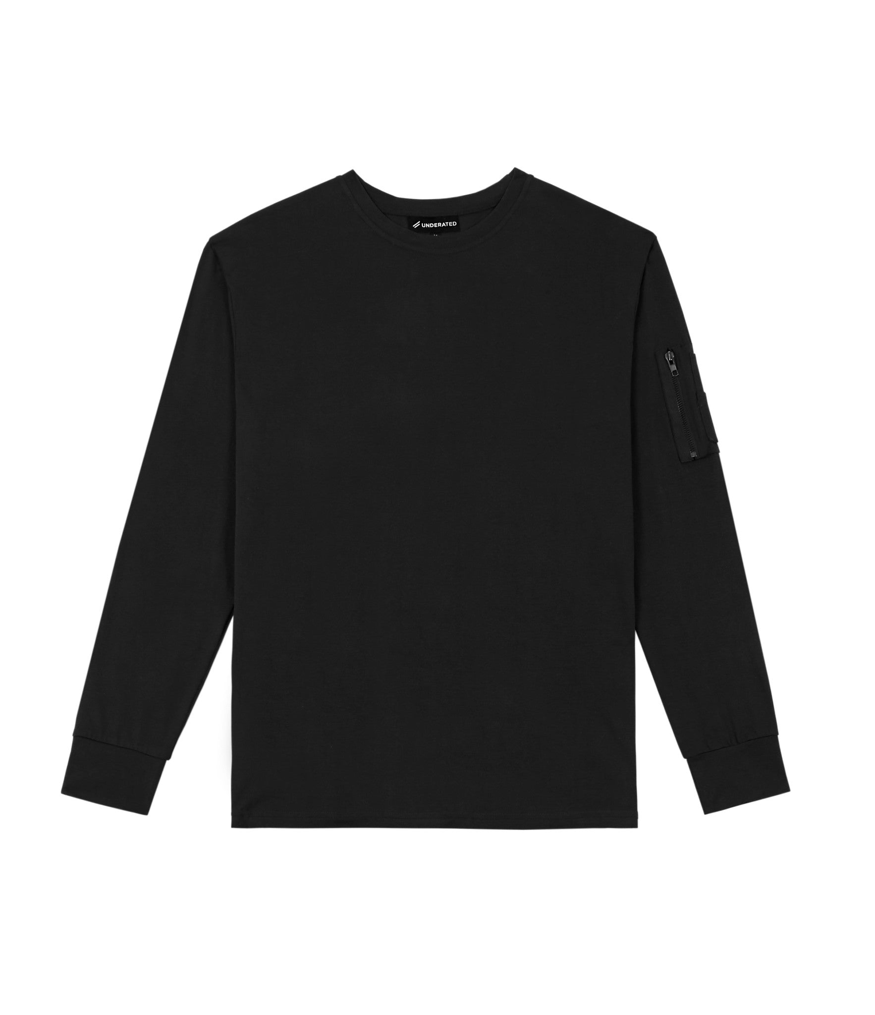 LS303 Utility Long-Sleeve Tee - Black - underated london - underatedco - 1