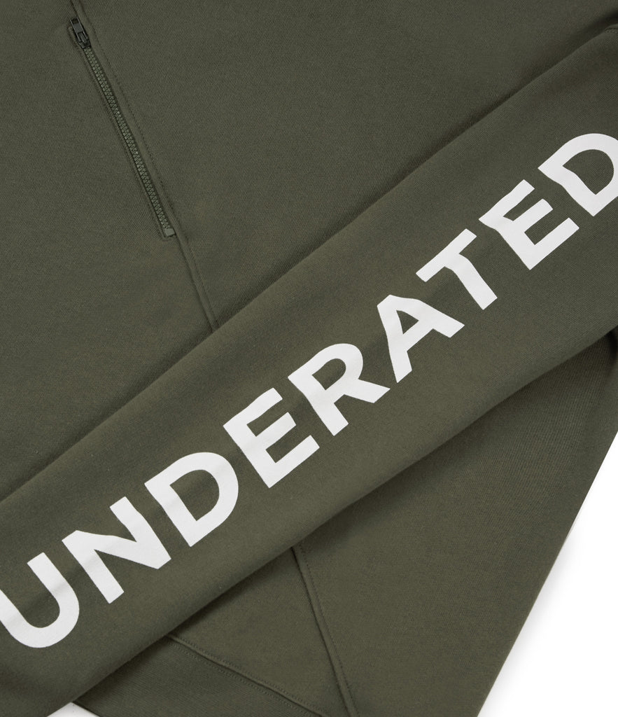 SW344 Asymmetric Zip Sweatshirt - Khaki - underated london - underatedco - 4
