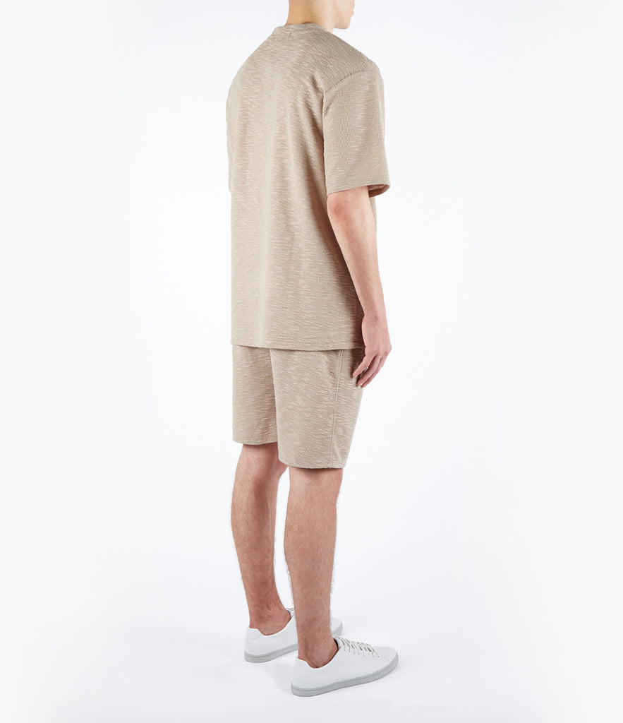 underated oversized fit t-shirt - beige knit