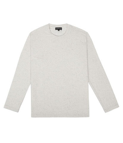TS379 Knit Jersey L/S Tee - White - UNDERATED