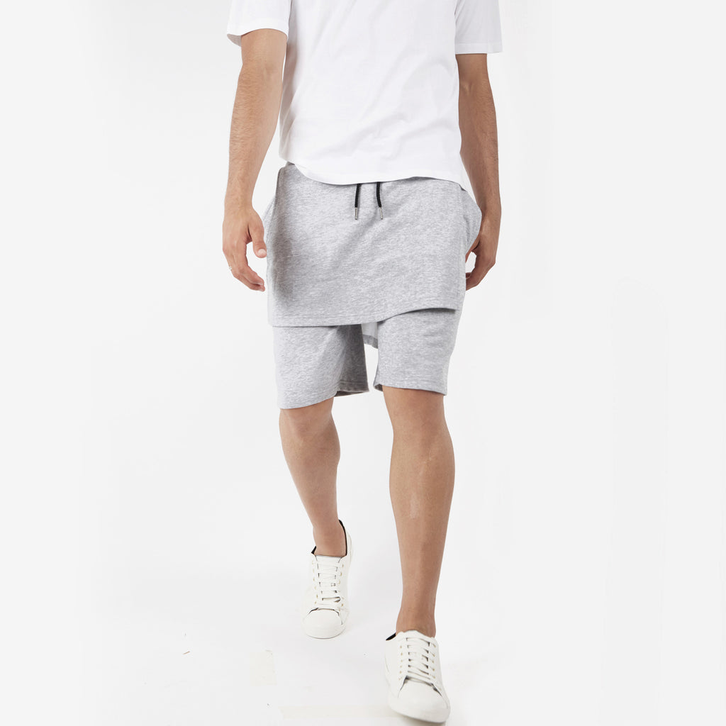 SR054 Layered Shorts - Grey - underated london - underatedco - 3