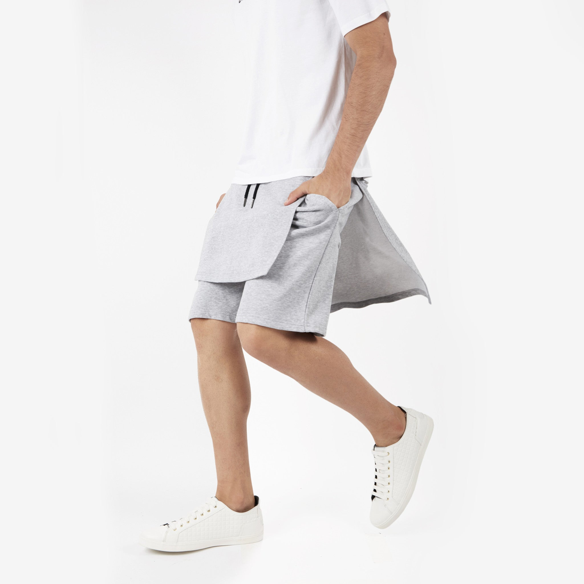 SR054 Layered Shorts - Grey - underated london - underatedco - 5