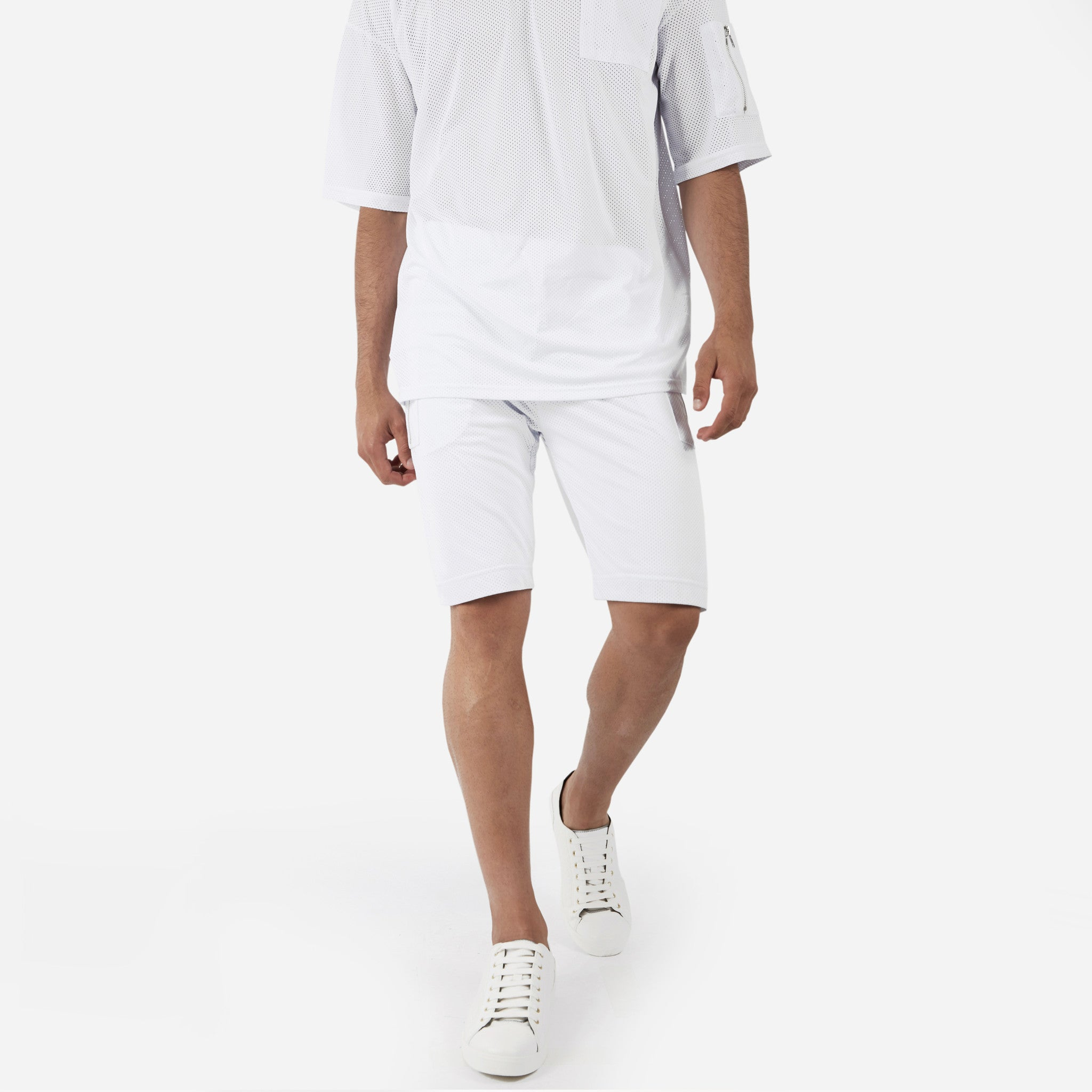 SR283 Utility Airtex Shorts - White - underated london - underatedco - 1