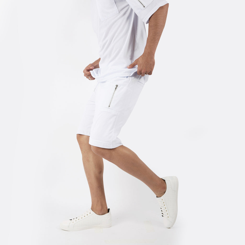 SR283 Utility Airtex Shorts - White - underated london - underatedco - 5