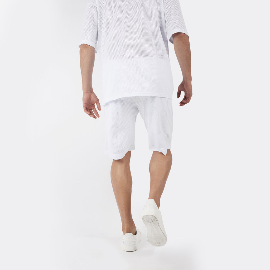 SR283 Utility Airtex Shorts - White - underated london - underatedco - 6