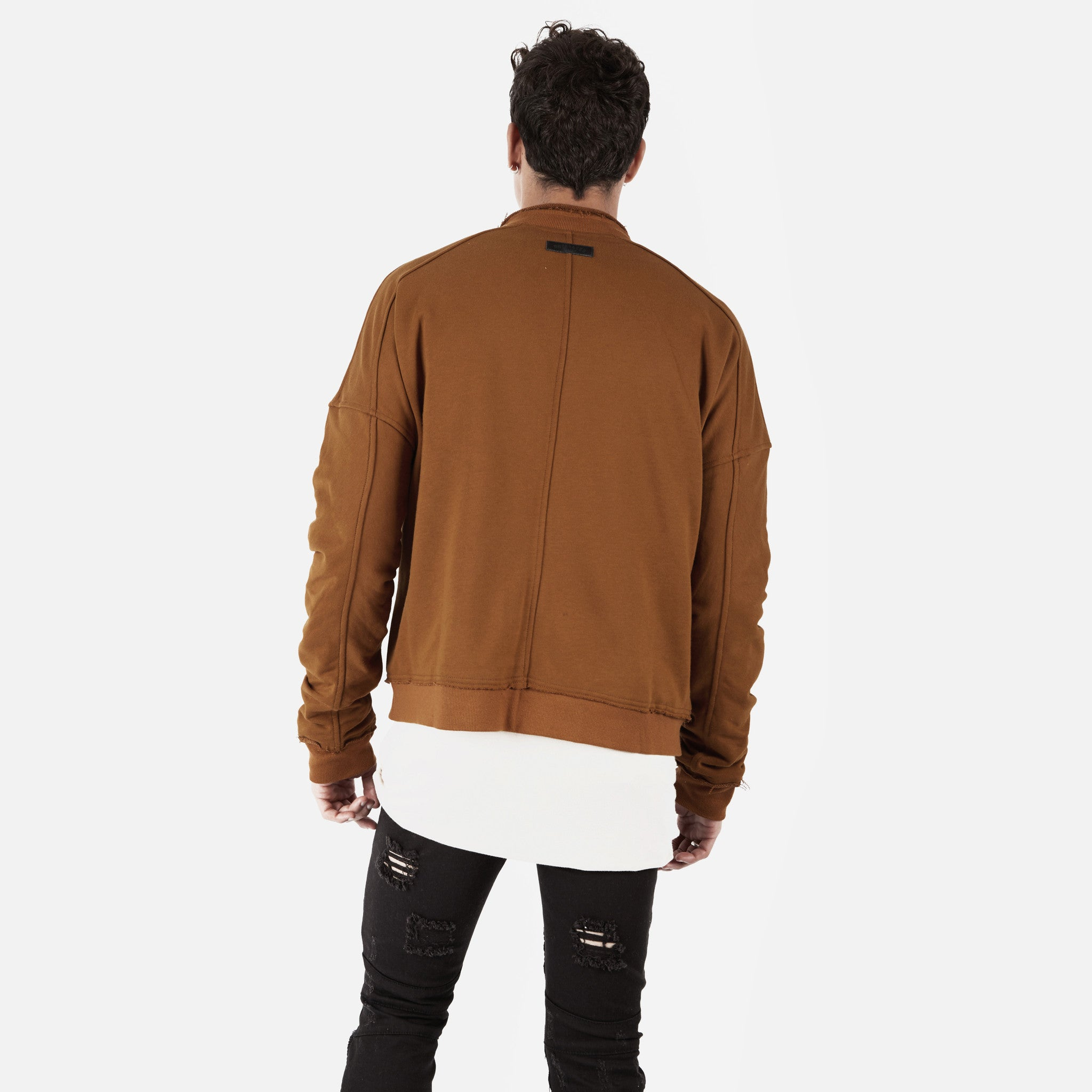 BM290 Exile Oversized Bomber Jacket - Clay - underated london - underatedco - 7