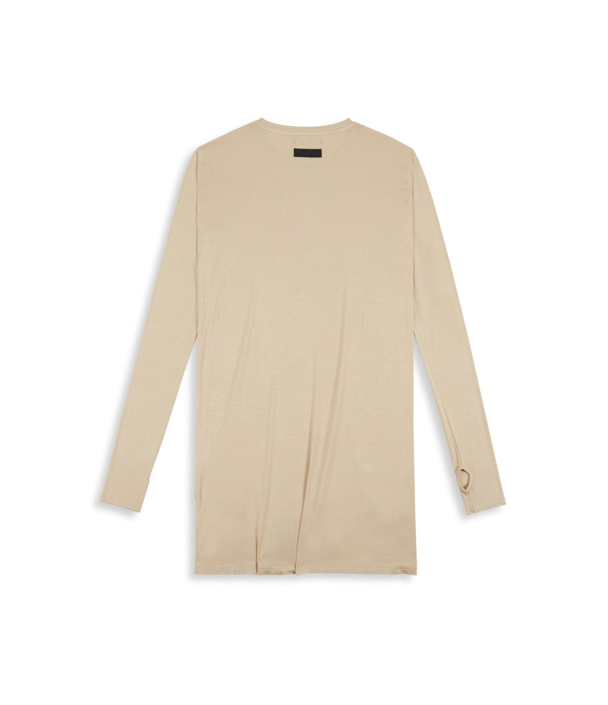 D16 Elongated Under Layer Tee - Beige - underated london - underatedco - 2
