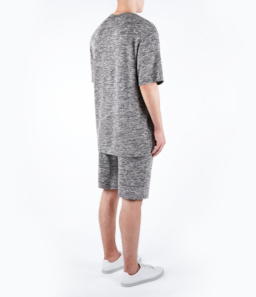 TS421 Oversized Tee - Black Marl - UNDERATED
