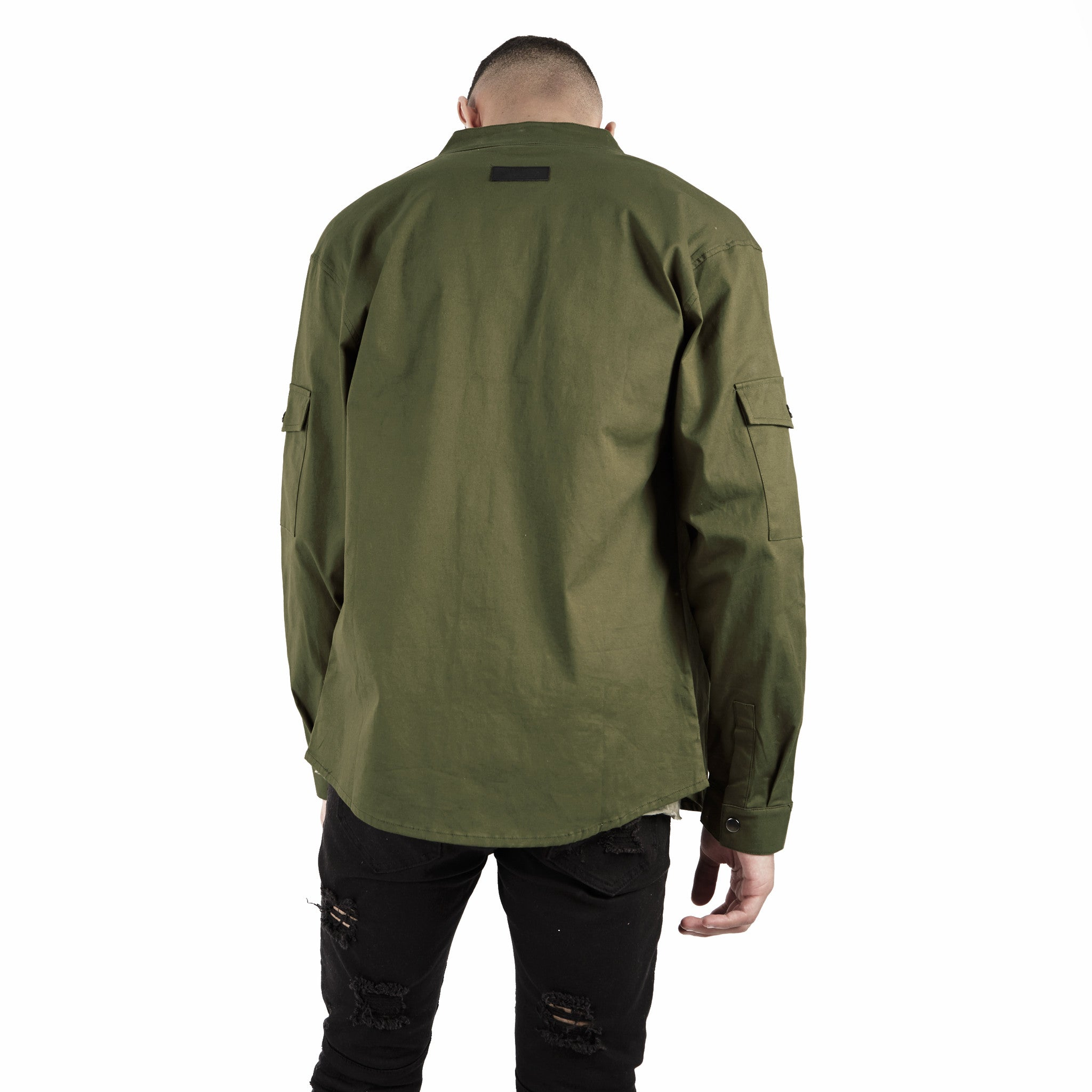 SH342 Utility Zip Shirt - Military Green - underated london - underatedco - 5