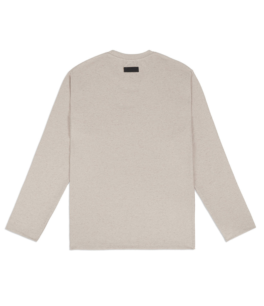 TS379 Knit Jersey L/S Tee - Sand - underated london - underatedco - 7