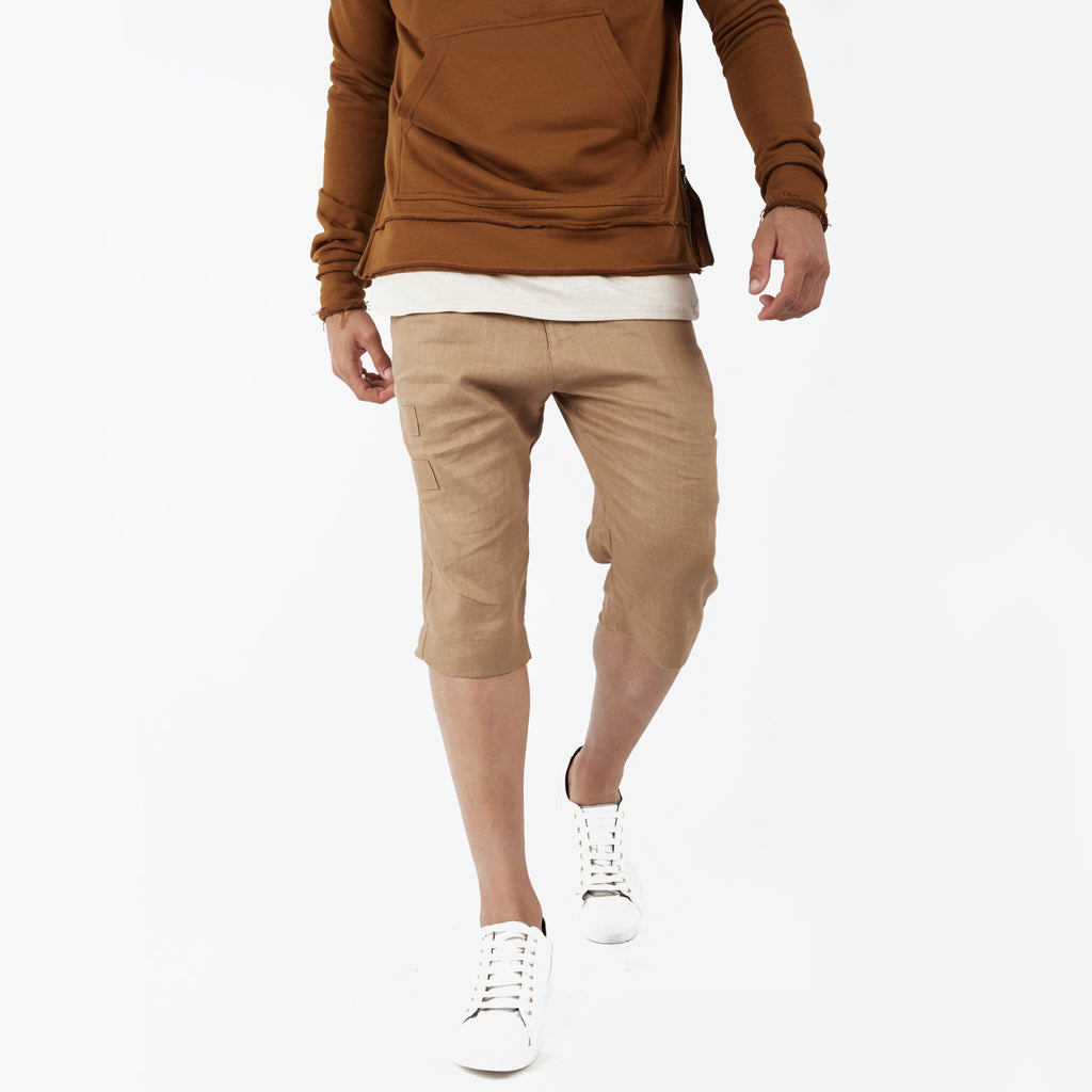 SR282 Exile Linen Shorts - Tan - underated london - underatedco - 5