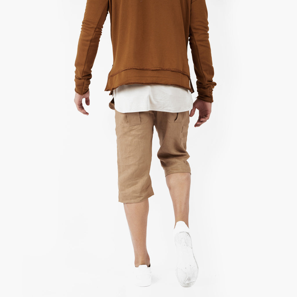SR282 Exile Linen Shorts - Tan - underated london - underatedco - 7