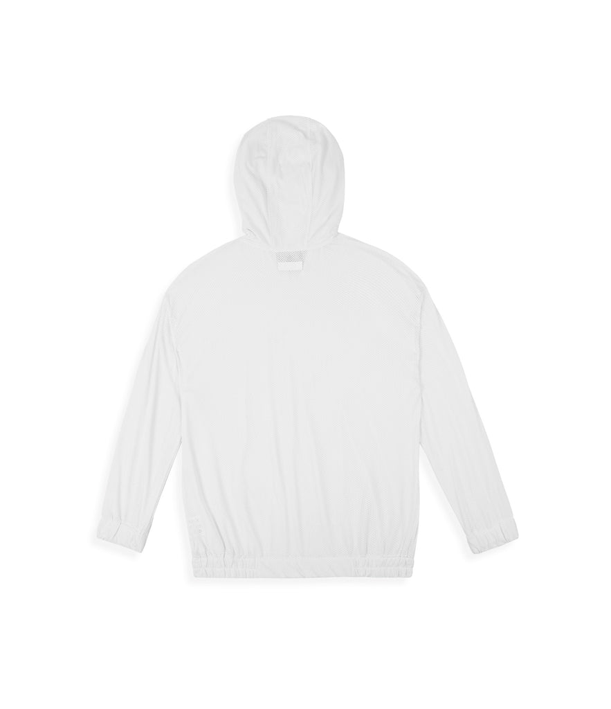 JK281 Exile Airtex Hoody - White - underated london - underatedco - 3