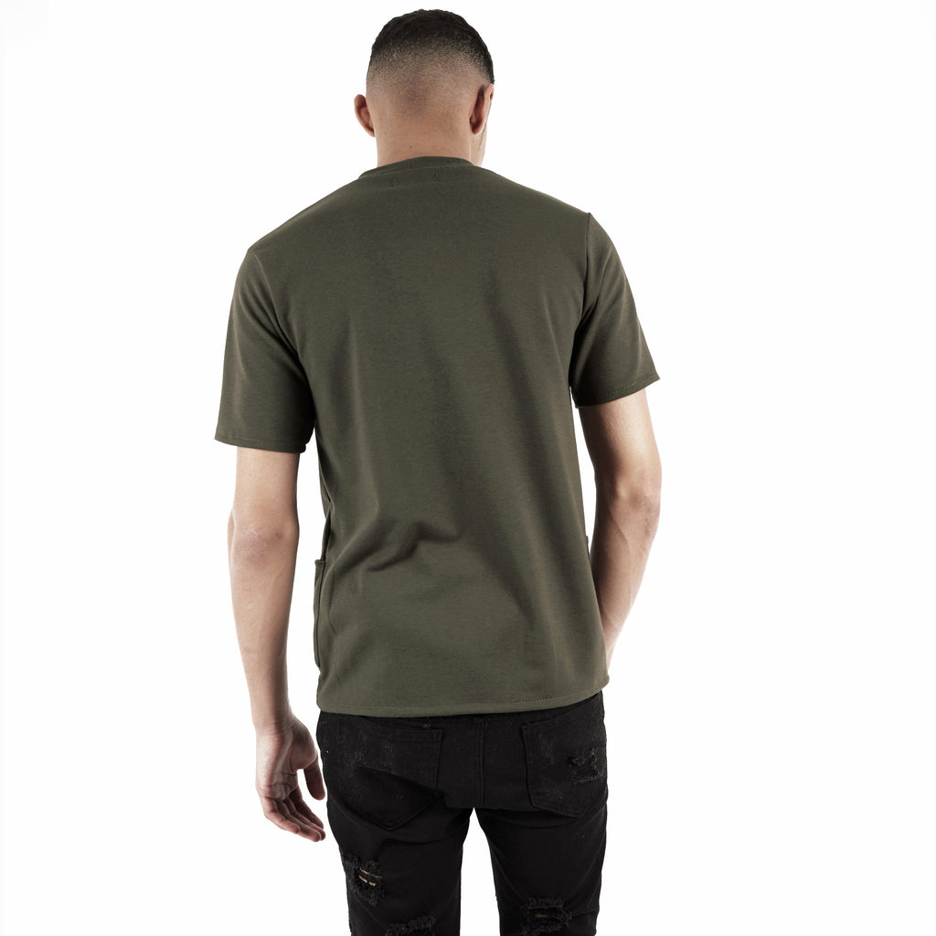 TS346 Side Pocket Tee - Khaki - underated london - underatedco - 4