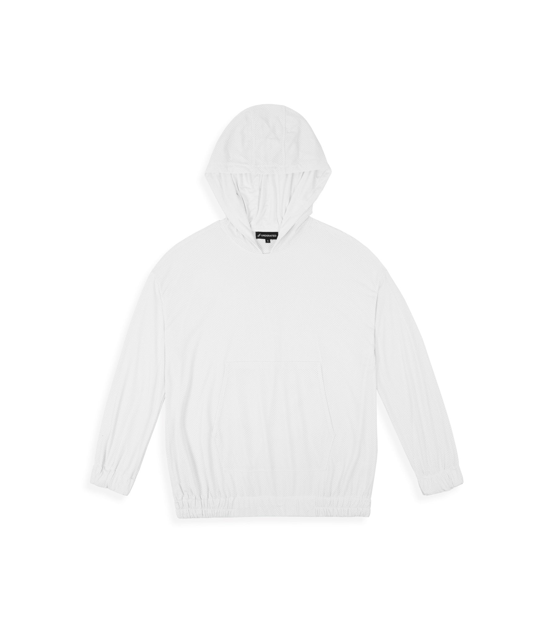 JK281 Exile Airtex Hoody - White - underated london - underatedco - 1