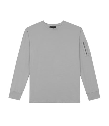 LS303 Utility Long-Sleeve Tee - Moondust Grey - UNDERATED