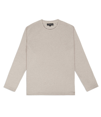 TS379 Knit Jersey L/S Tee - Sand - underated london - underatedco - 1