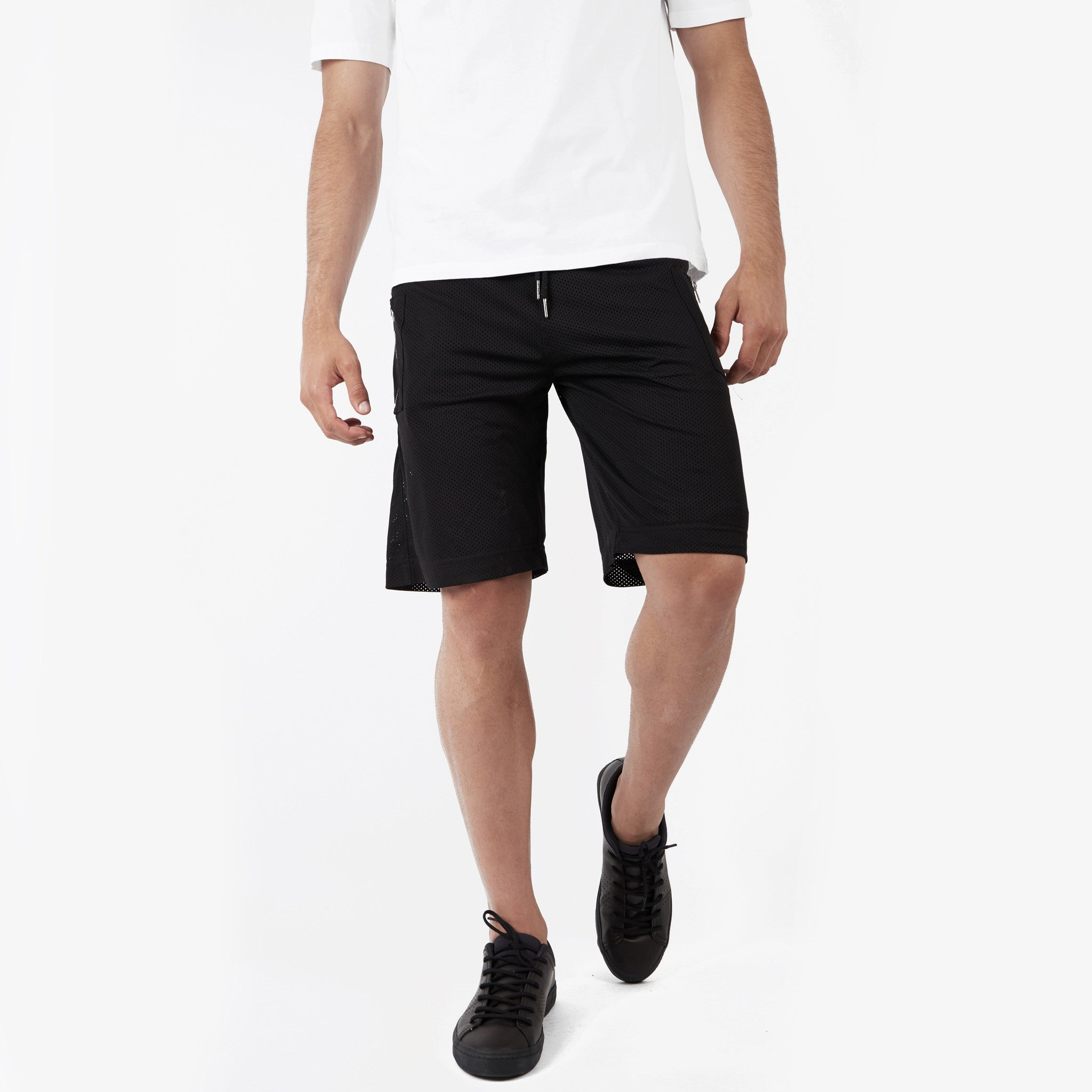 SR283 Utility Airtex Shorts - Black - underated london - underatedco - 1