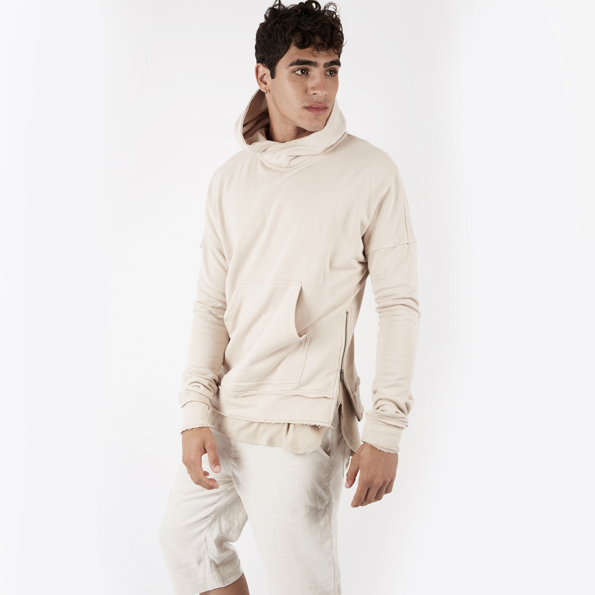 HD315 Exile Oversized Hoody - Sand - underated london - underatedco - 3