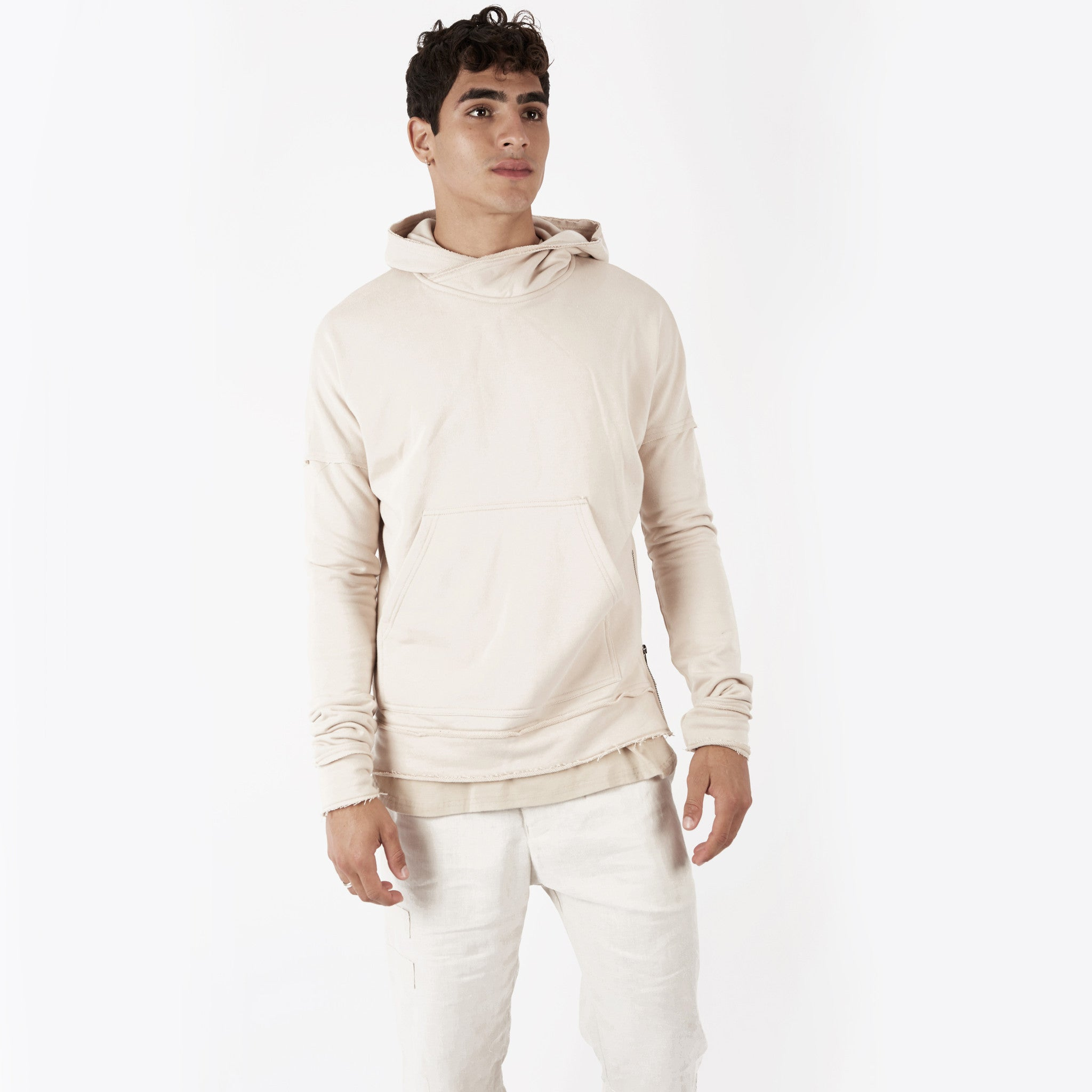 HD315 Exile Oversized Hoody - Sand - underated london - underatedco - 4