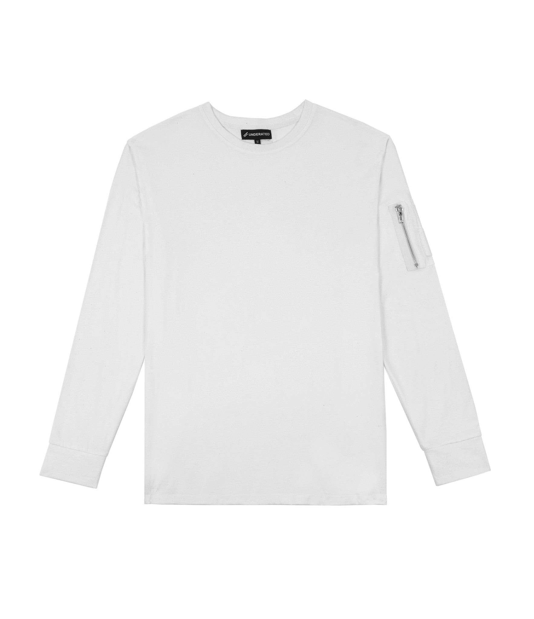 LS303 Utility Long-Sleeve Tee - White - underated london - underatedco - 1
