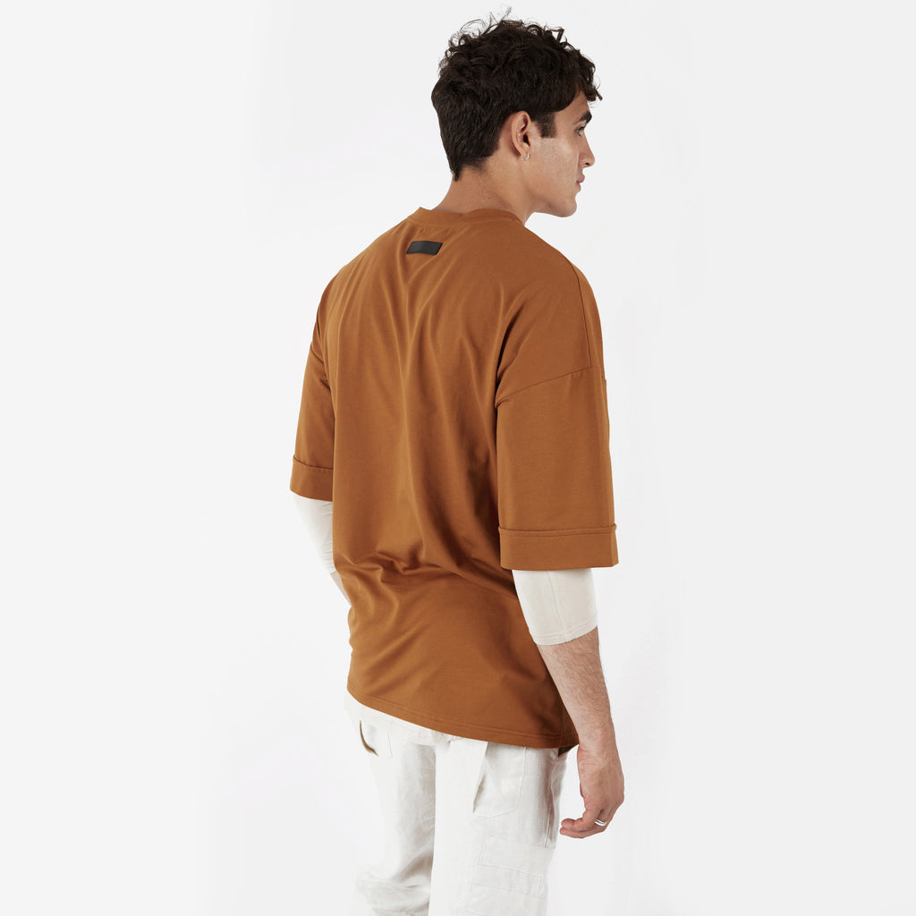 TS271 Oversized Tee - Cognac - underated london - underatedco - 5