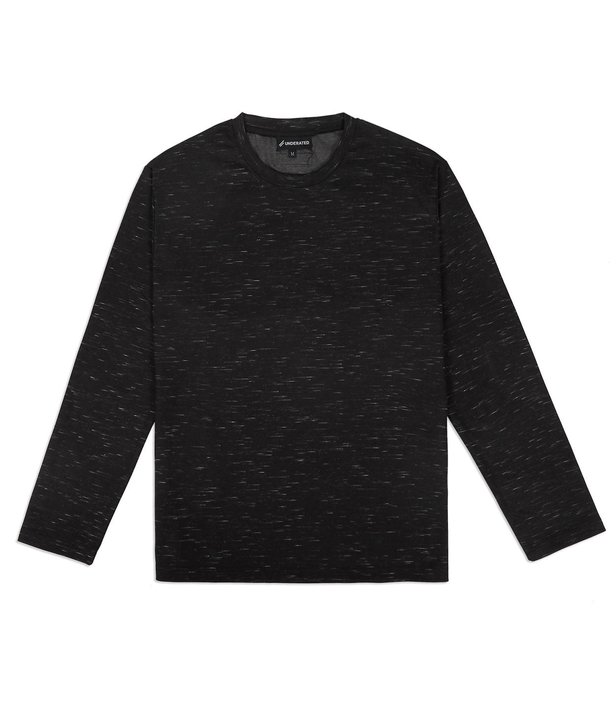 TS379 Knit Jersey L/S Tee - Black - underated london - underatedco - 1