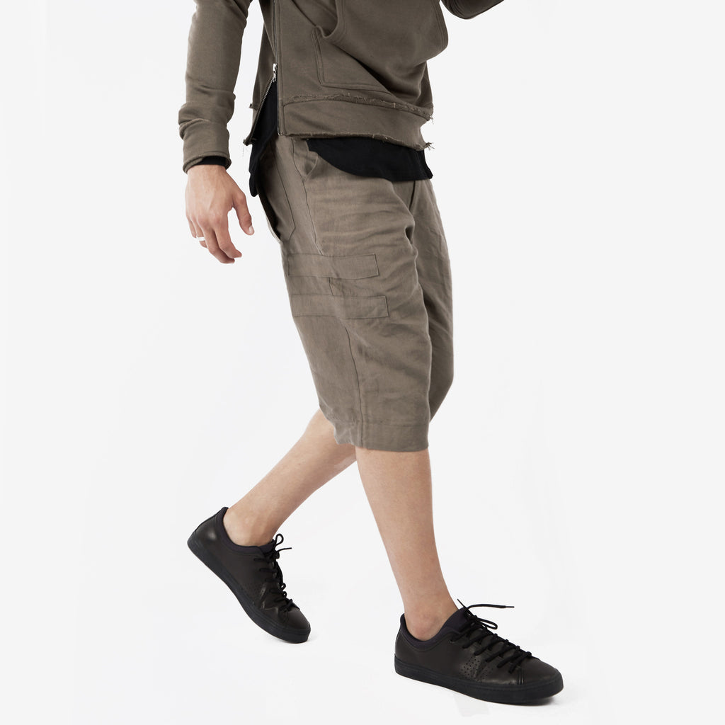 SR282 Exile Linen Shorts - Khaki - UNDERATED