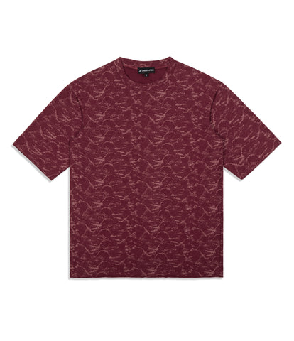 underated textured pattern t-shirt - red
