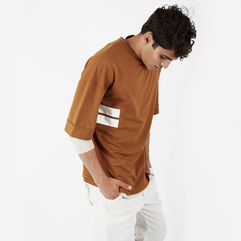 TS271 Oversized Tee - Cognac - underated london - underatedco - 6