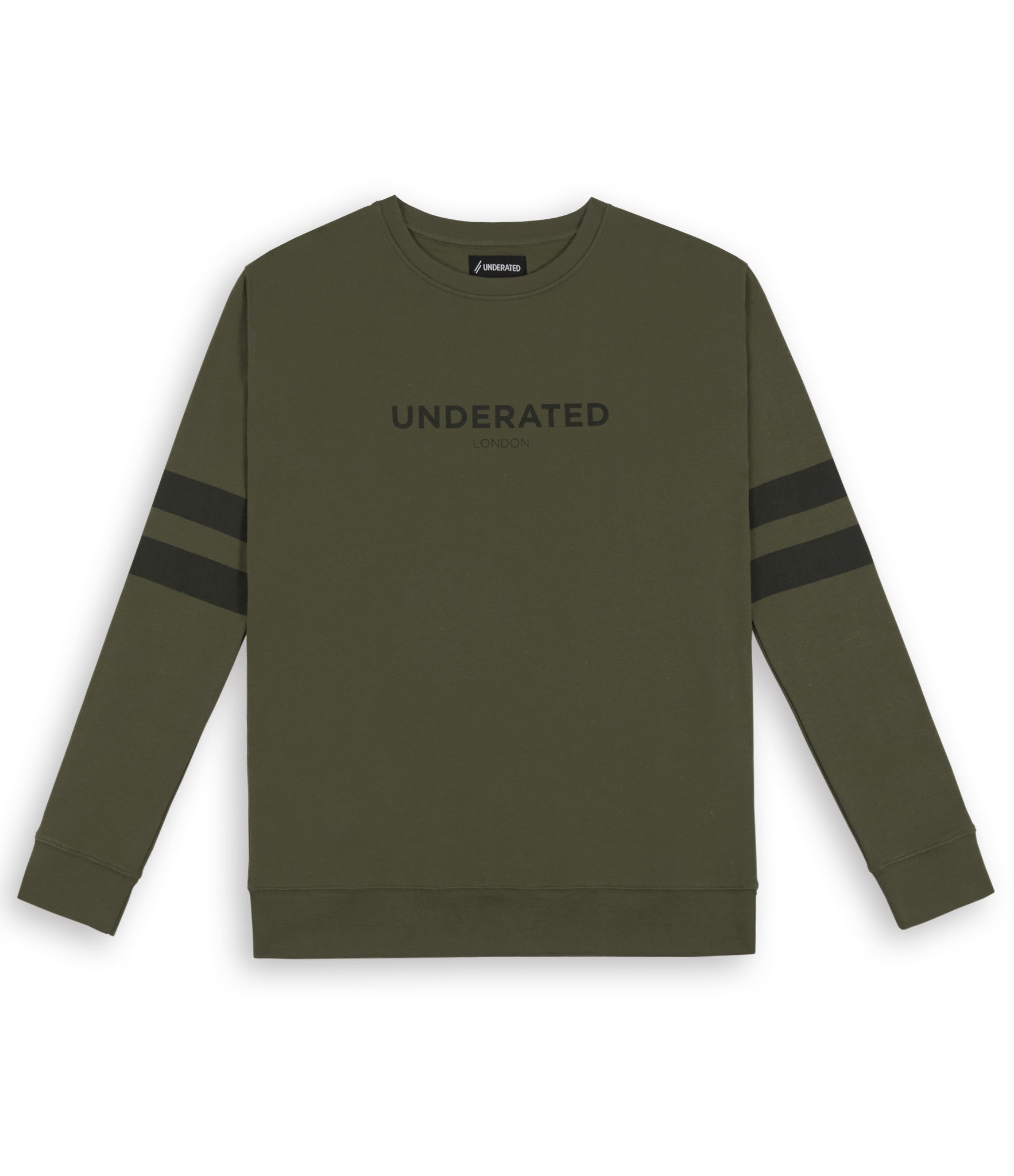SW400 Tonal Print Sweatshirt - Khaki - underated london - underatedco - 1