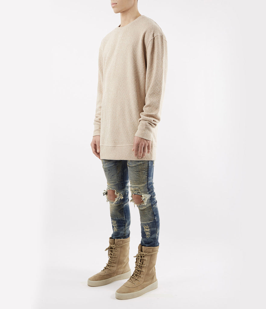 SW375 Elongated Knit Jumper - Sand - underated london - underatedco - 3