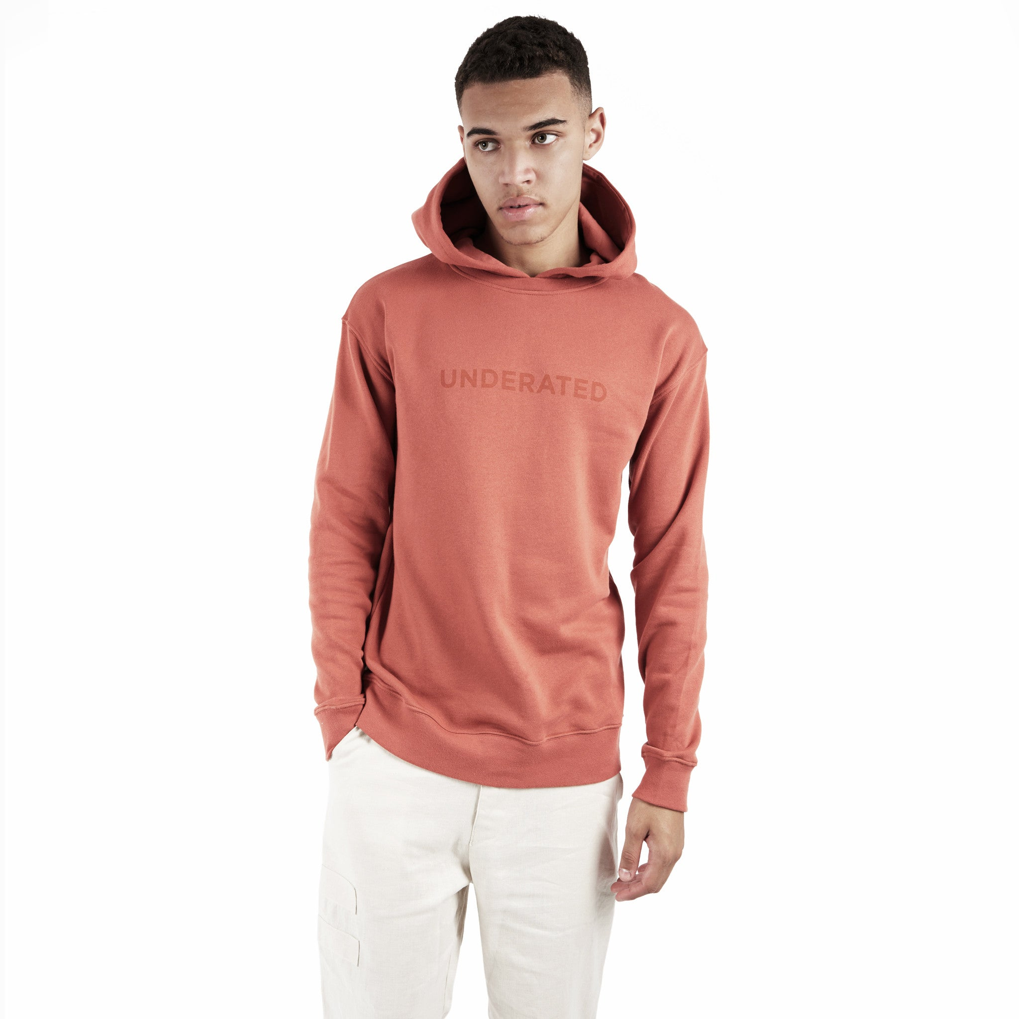 HD395 Essential Print Hoody - Rust - underated london - underatedco - 4