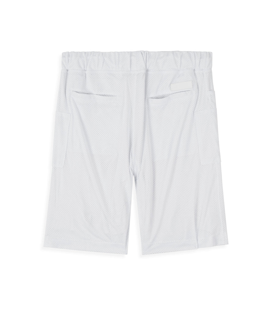 SR283 Utility Airtex Shorts - White - underated london - underatedco - 3