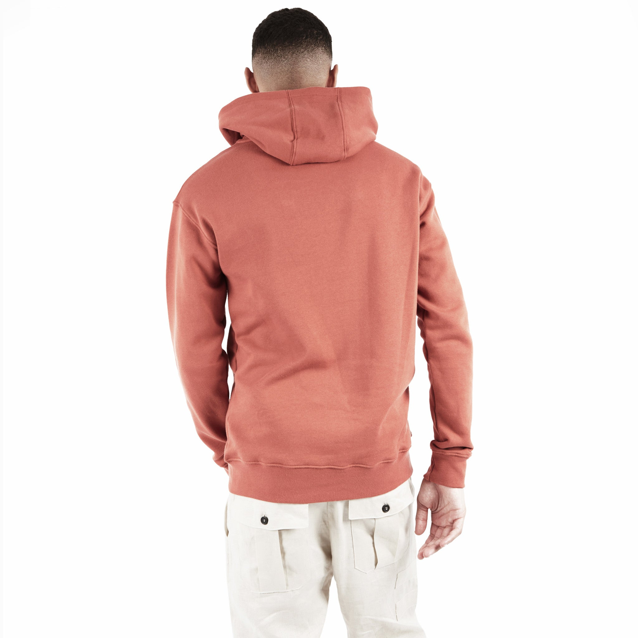HD395 Essential Print Hoody - Rust - underated london - underatedco - 6
