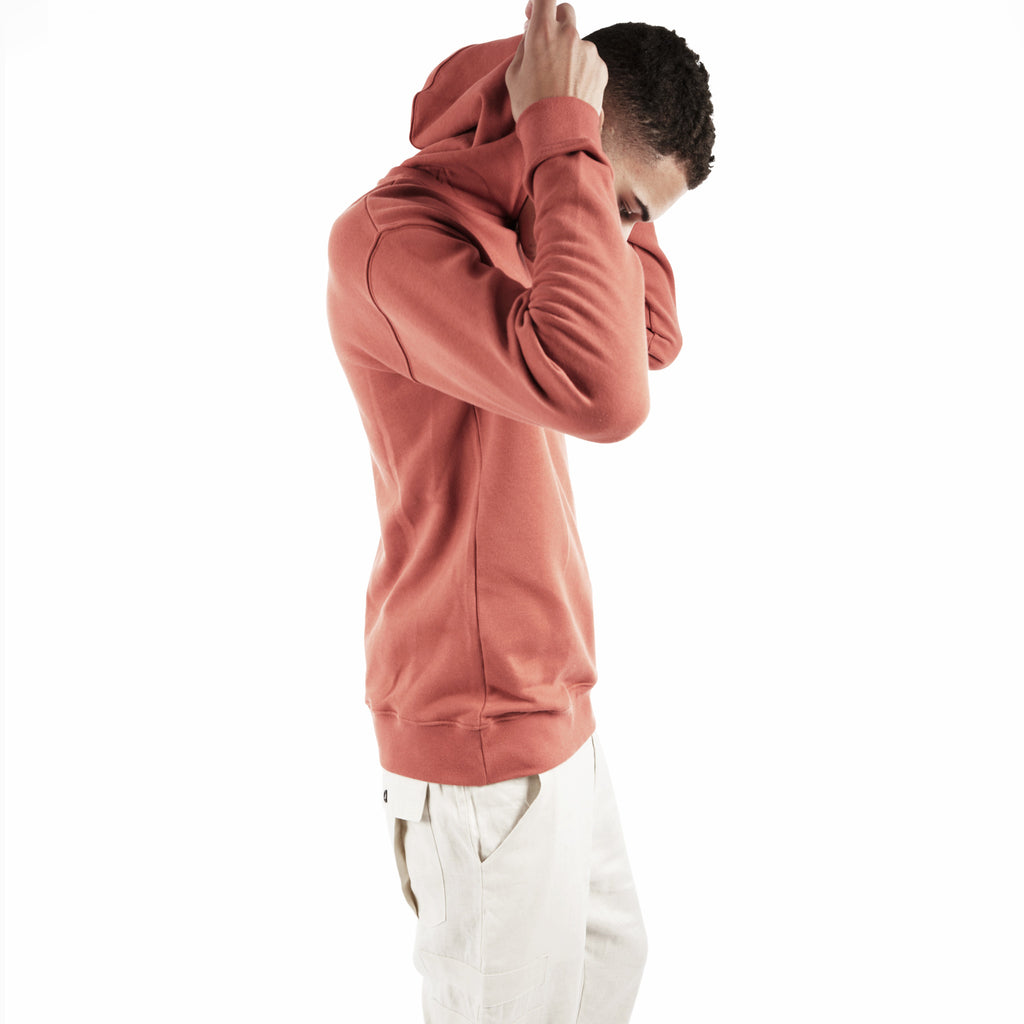 HD395 Essential Print Hoody - Rust - underated london - underatedco - 7