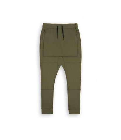 TR053 Layered Joggers - Olive - underated london - underatedco - 1