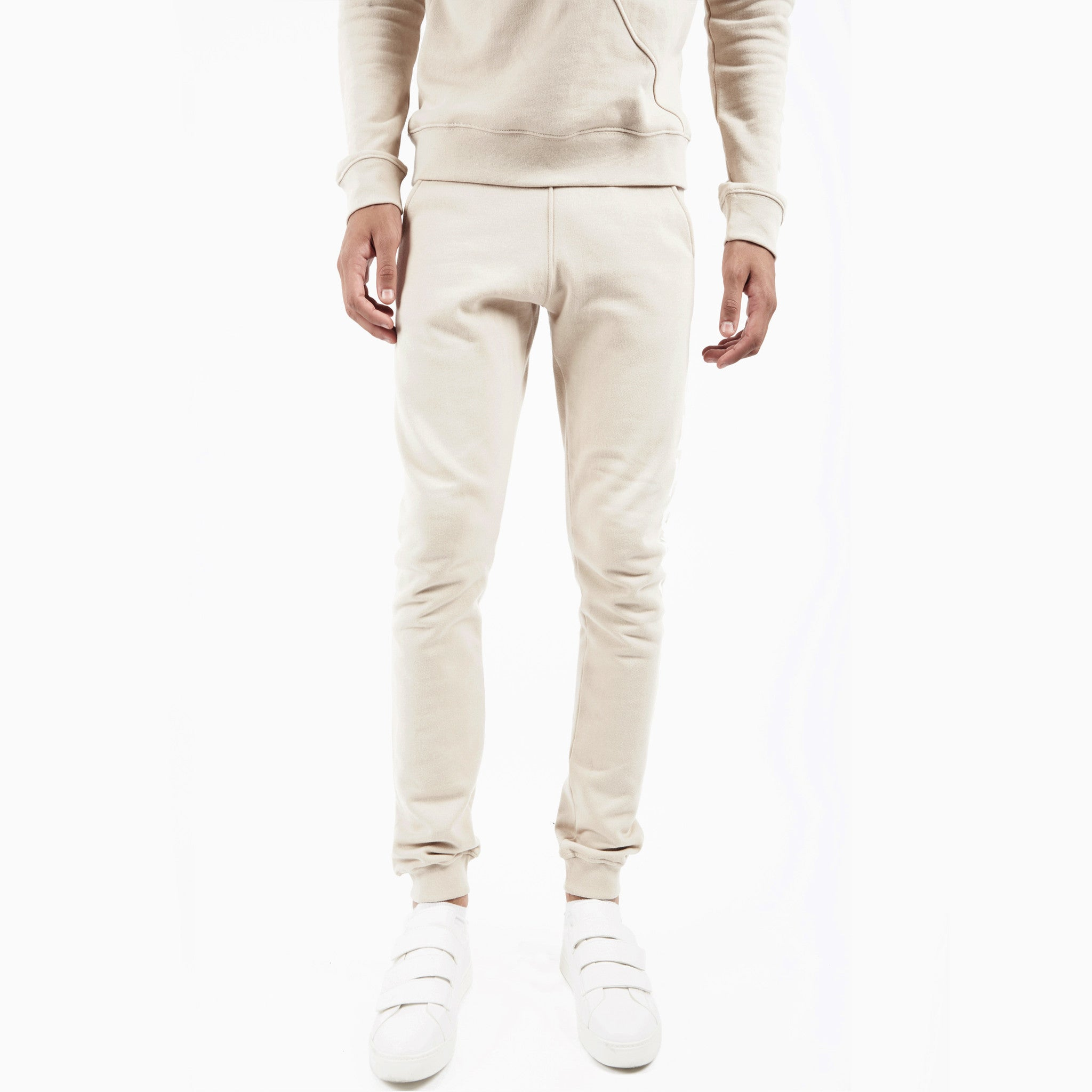 TR351 Essential Printed Joggers - Beige - underated london - underatedco - 4